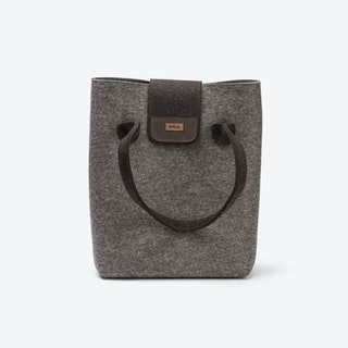 Practical Bag in Natural Mottled/Truffle Brown