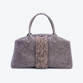 Plait Bag in Natural Mottled