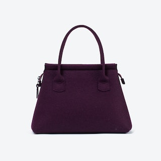 Business Tote in Aubergine