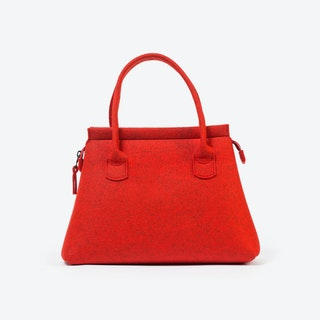 Business Tote in Tomate Red