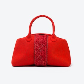 Plait Bag in Tomate Red