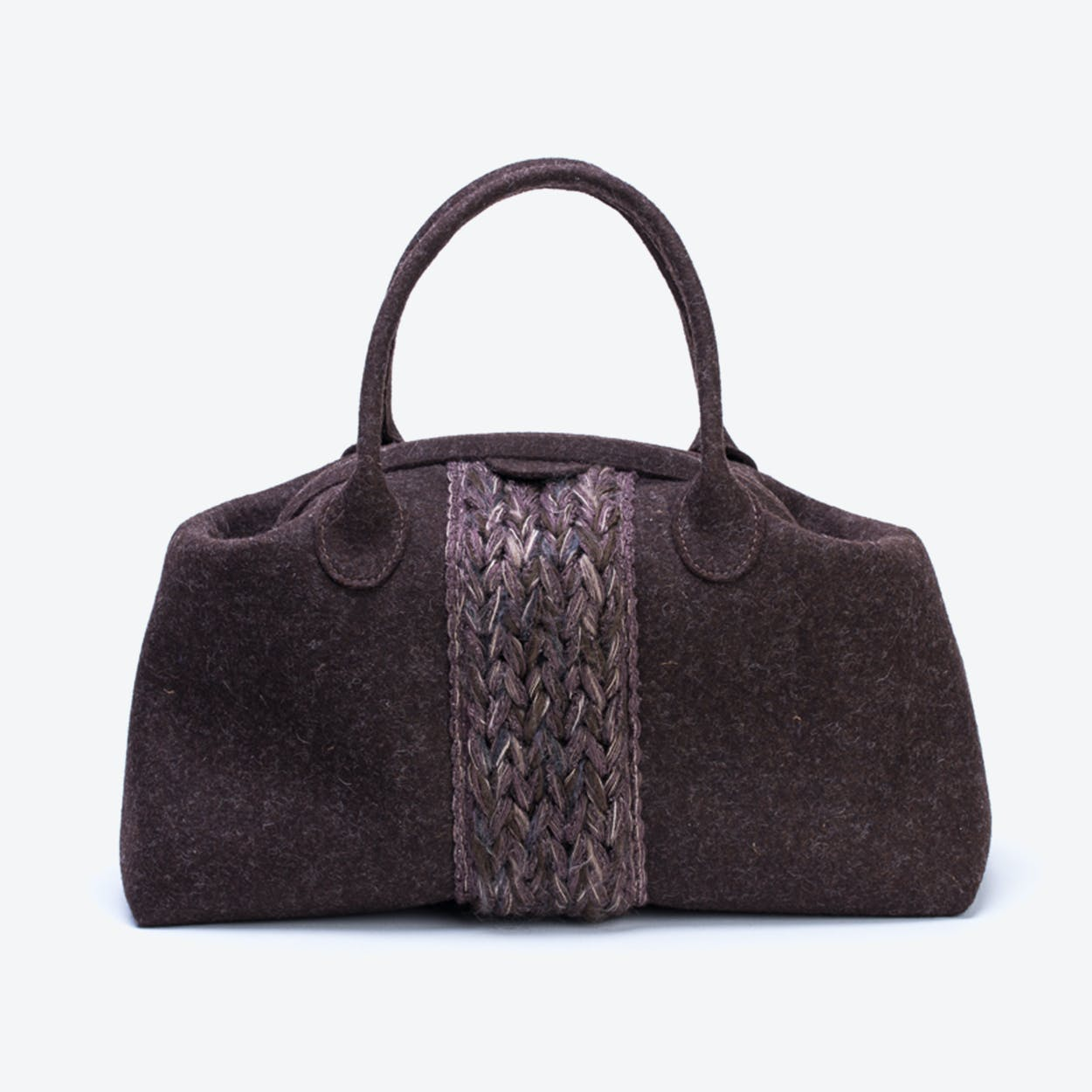 Plait Bag in Truffle Brown