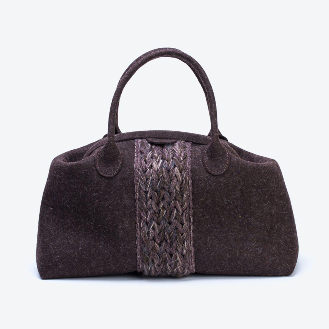 Plait Bag in Truffle Brown