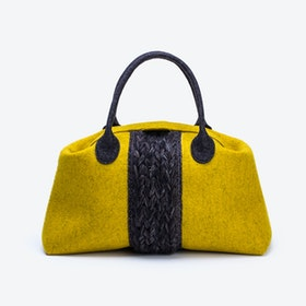 Plait Bag in Mustard