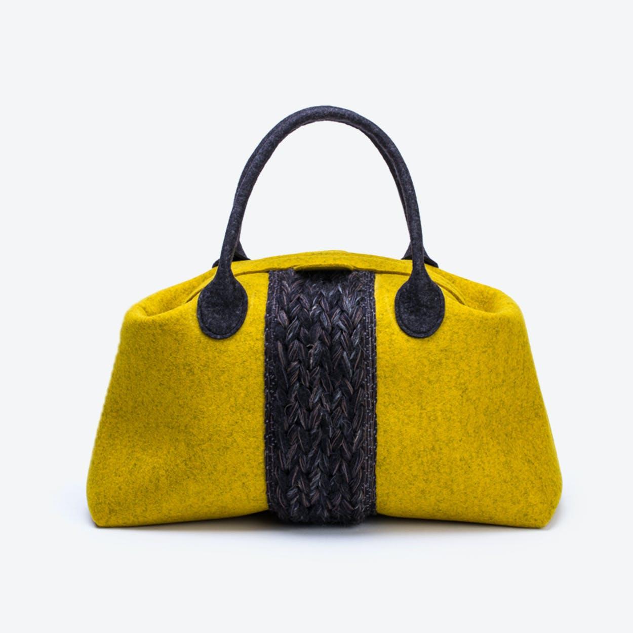 Plait Bag in Mustard