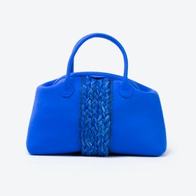 Plait Bag in Light Blue