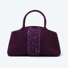 Plait Bag in Aubergine