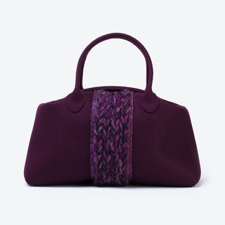 Plait Bag in Aubergine