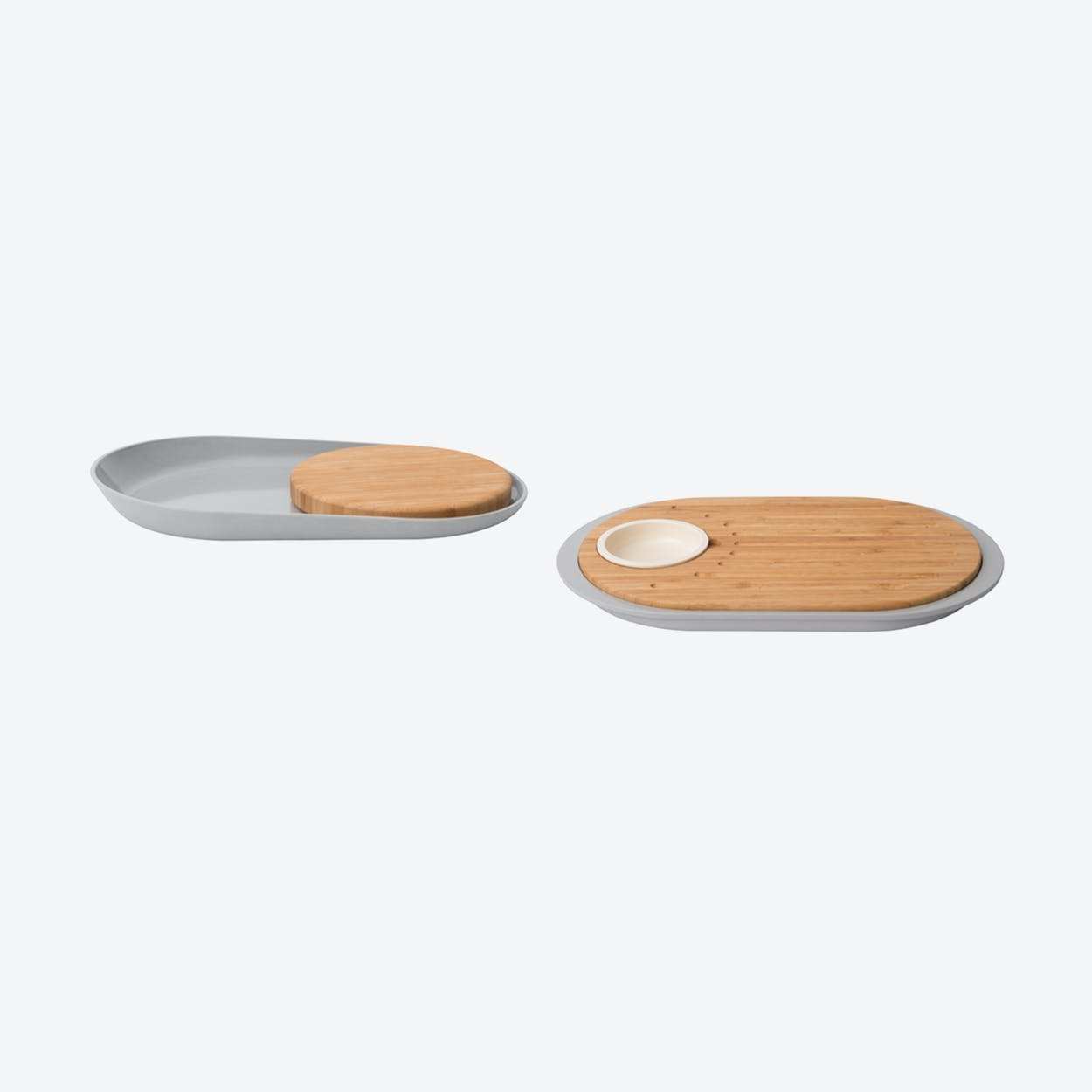 Mix Plate and Cutting Board Set