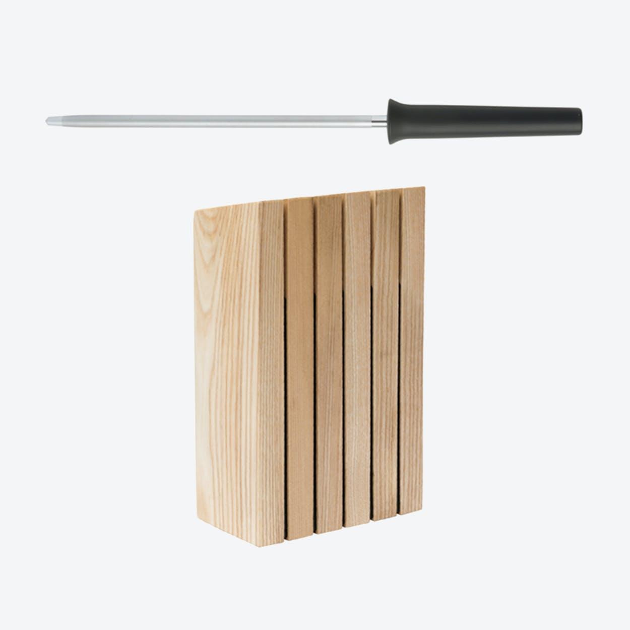 Knife Block & Sharpening Steel