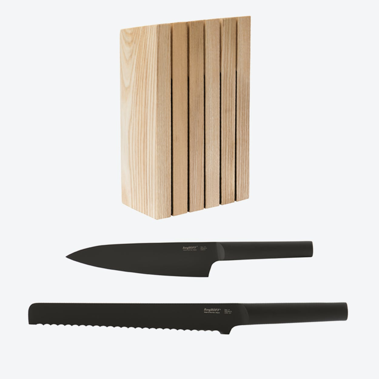 Knife Block w/ Bread & Chef's Knife