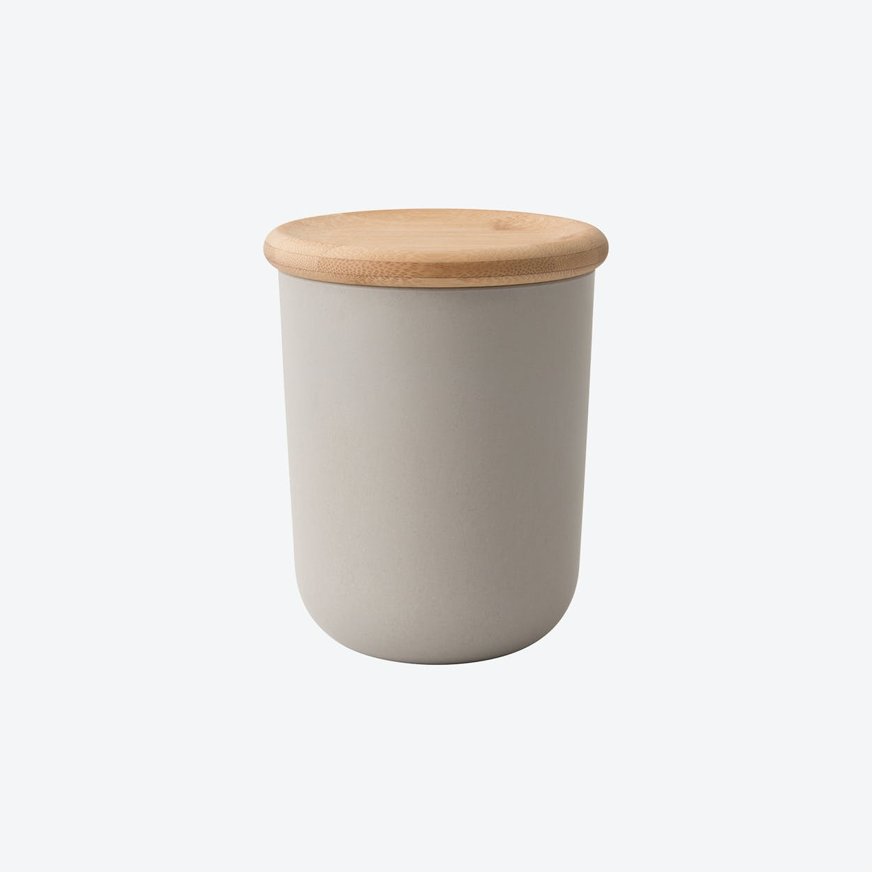 Canister w/ Bamboo Lid in Light Grey, Set of 4