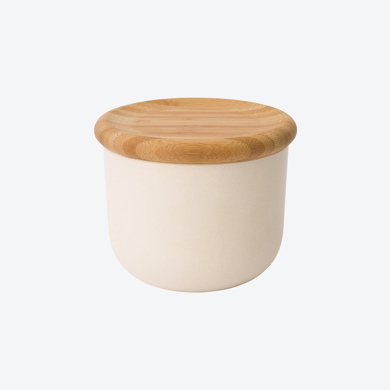 Canister w/ Bamboo Lid in Beige, Set of 5