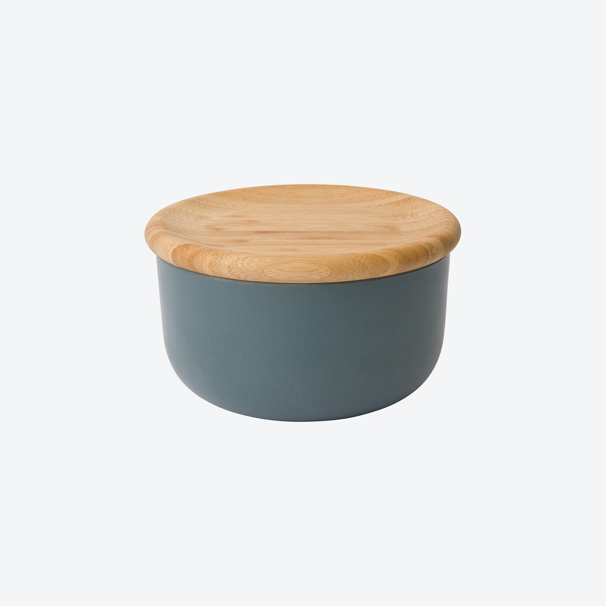 Canister w/ Bamboo Lid in Dark Grey, set of 4