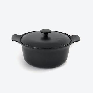 Cast Iron Covered Stockpot, 24cm