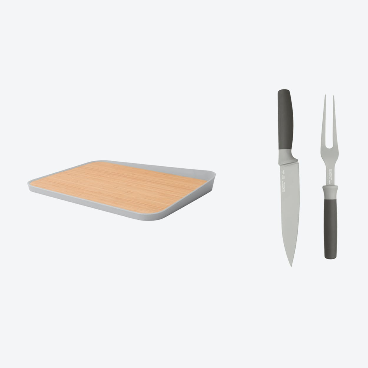 Carving Knife with Cutting Board