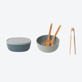 Bowl w/ Servers and Tongs Set