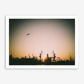 Harbour Giraffes 5 Art Print