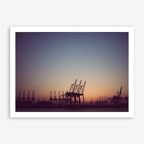 Harbour Giraffes 6 Art Print