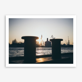 Hamburg Harbour Art Print