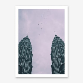 Petronas Twin Towers 4 Art Print