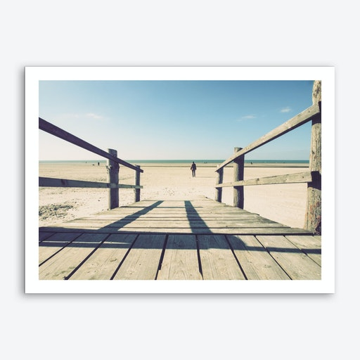 Walking On The Beach_2 Art Print