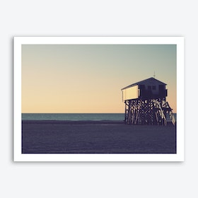 Sunset And Beach_1 Art Print