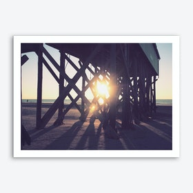 Sunset And Beach_2 Art Print