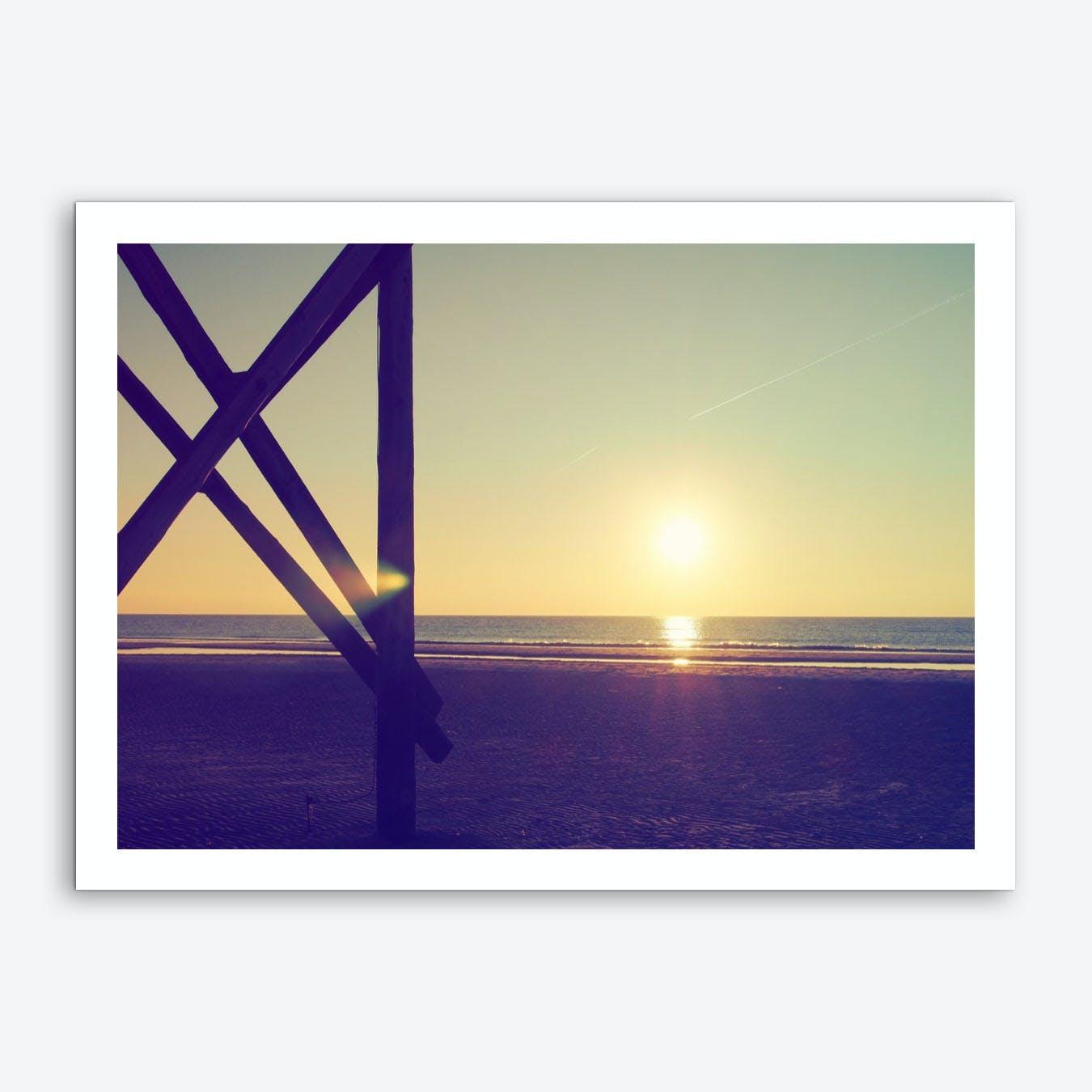 Sunset And Beach_3 Art Print