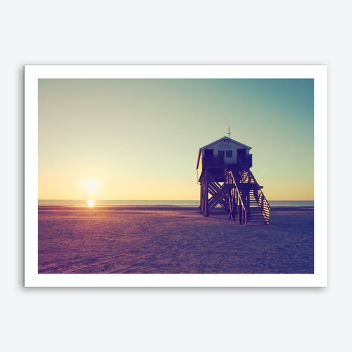 Sunset And Beach_4 Art Print