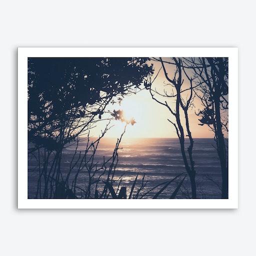 Sunset And Beach_6 Art Print