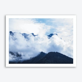 Of Clouds And Mountains_1 Art Print