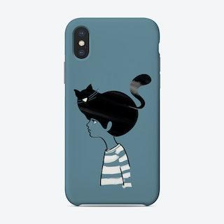 Cat Head Blue Phone Case