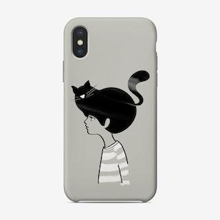 Cat Head Phone Case
