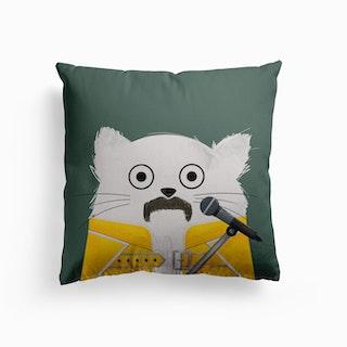 Cat Freddie Canvas Cushion