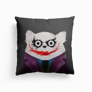 Cat Joker Canvas Cushion