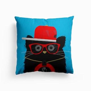 Cat Flavor Flav Canvas Cushion