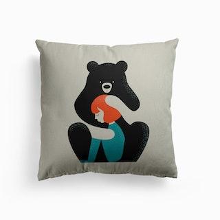 Bear Hug Canvas Cushion