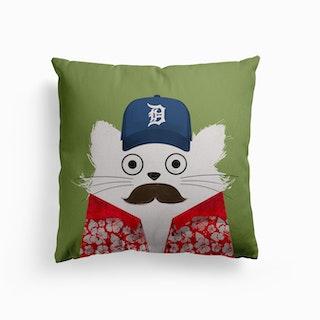 Cat Magnum Canvas Cushion