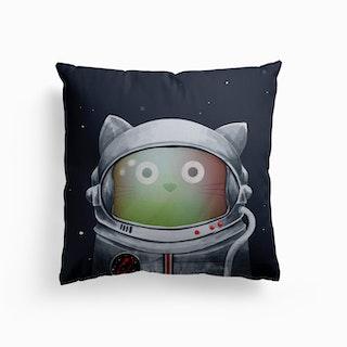 Cat Astronaut Canvas Cushion