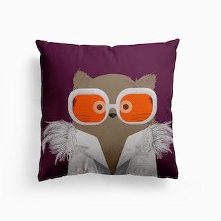 Cat Elton Canvas Cushion