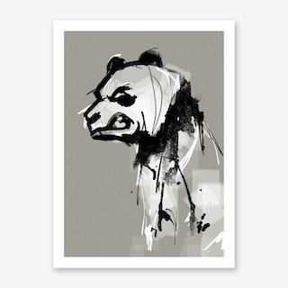 Panda Angry Art Print