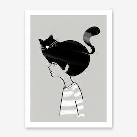 Cat Head Art Print