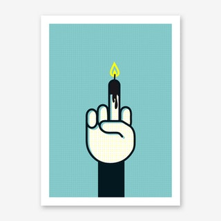 Bday Finger Art Print