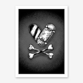 Skate Love Art Print