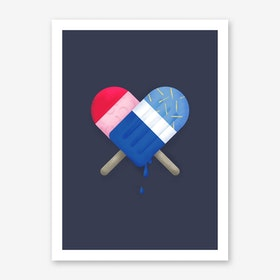Ice Love Art Print