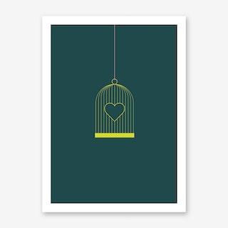 Heart Cage Art Print
