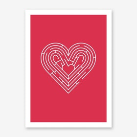 Heart Labyrinth Art Print