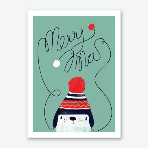 Christmas Cap Art Print