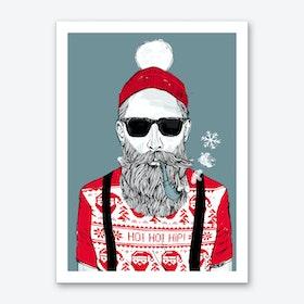 Christmas Hipster Art Print